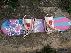 Dětský SNB 90 cm + vázání a boty Flow - titulní fotka