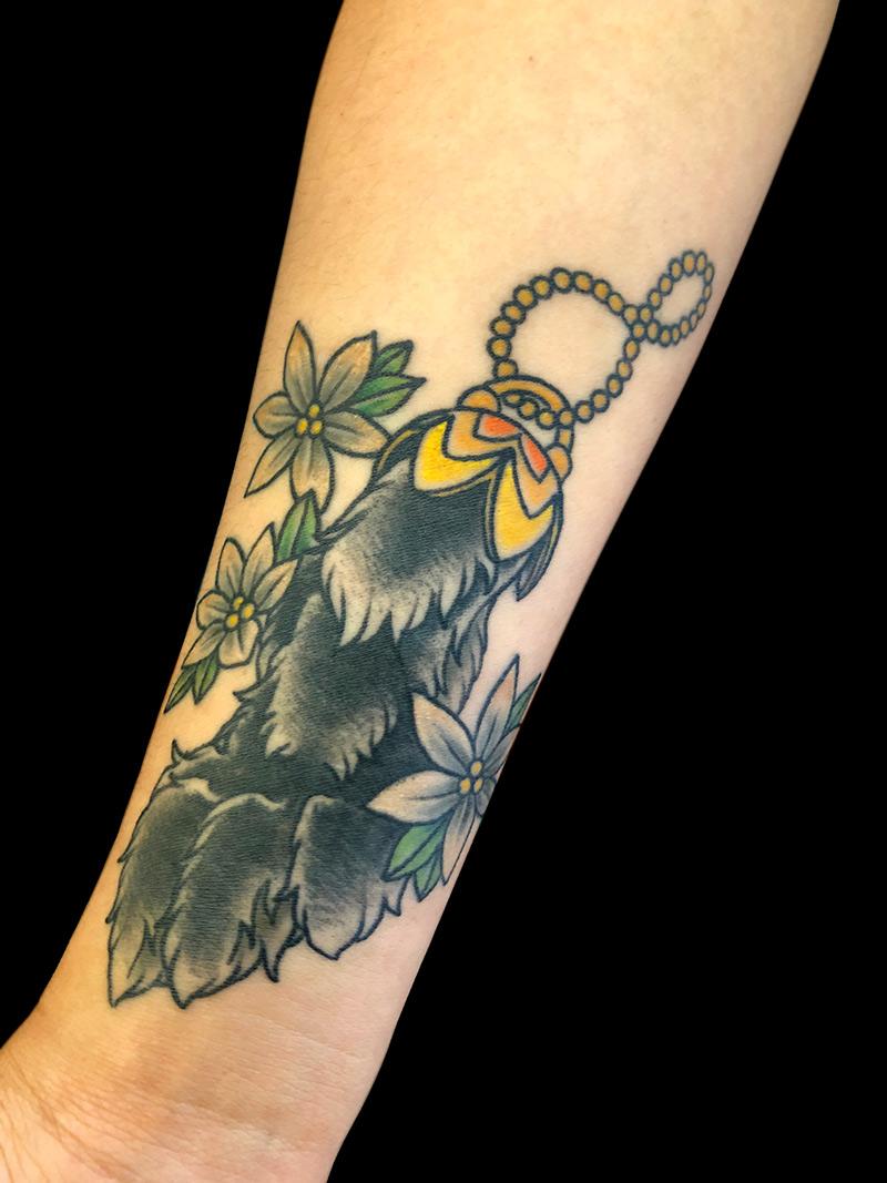 rabbit foot tattoo