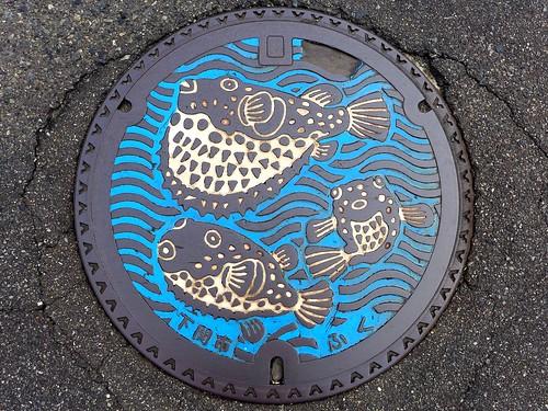 Shimonoseki Yamaguchi, manhole cover 3 (山口県下関市のマンホール3)