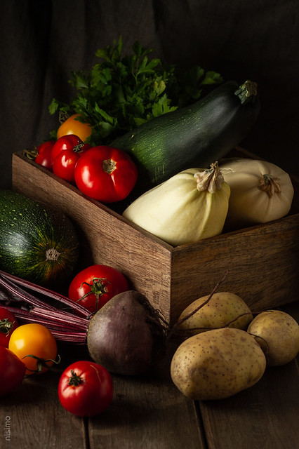 Fresh rustic vegetables