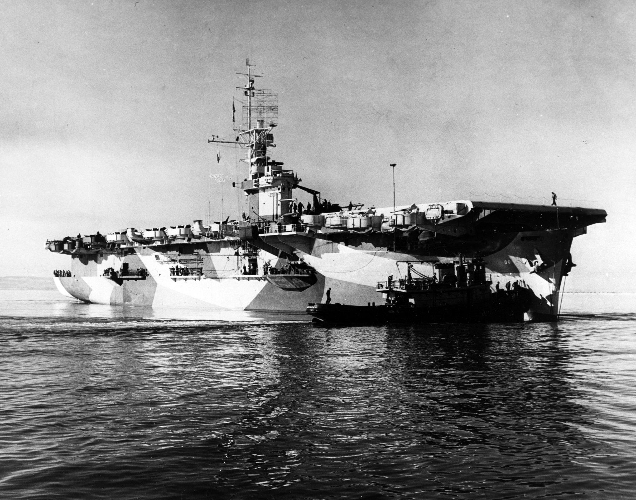 USS White Plains (CVE-66) - image courtesy of NavSource