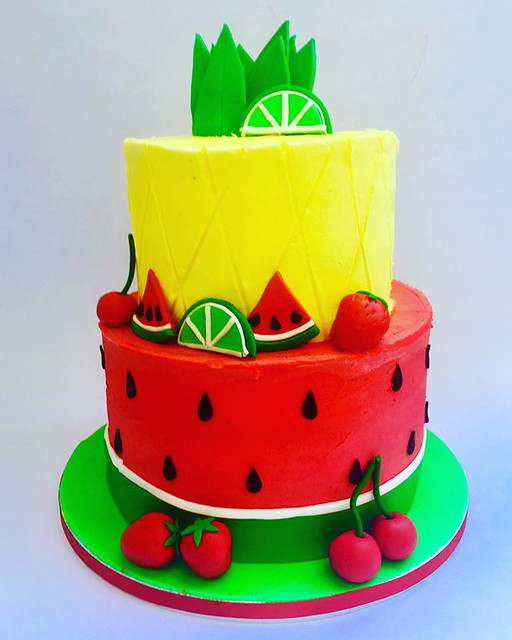 Summer Fruit Themed Cake by Dream Cakes in Rome