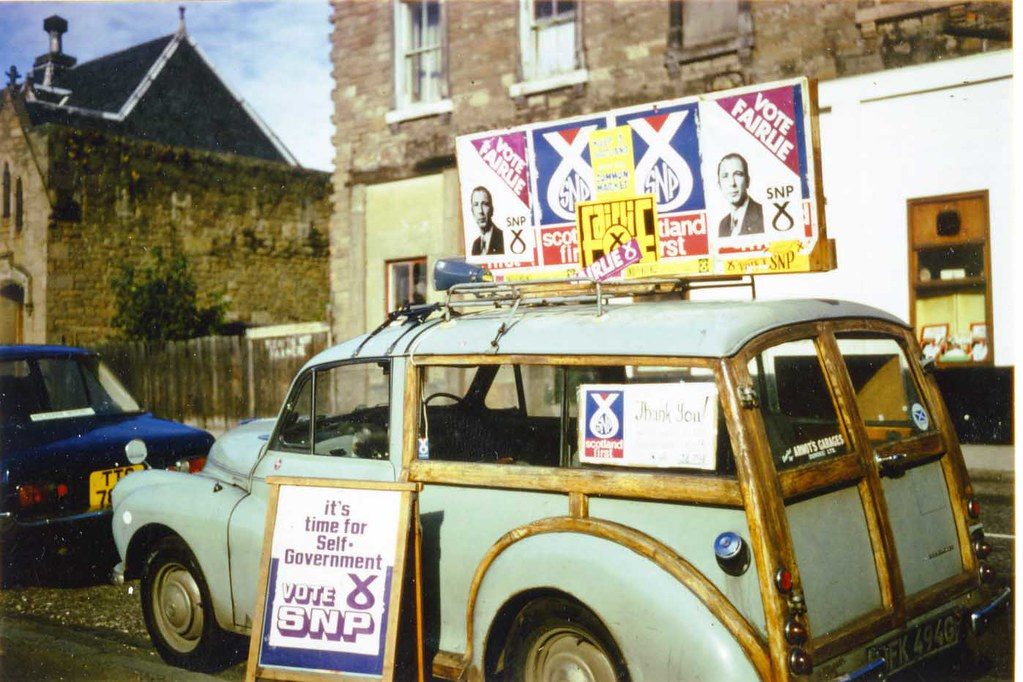 SNP campaigning in Dundee West, 1974