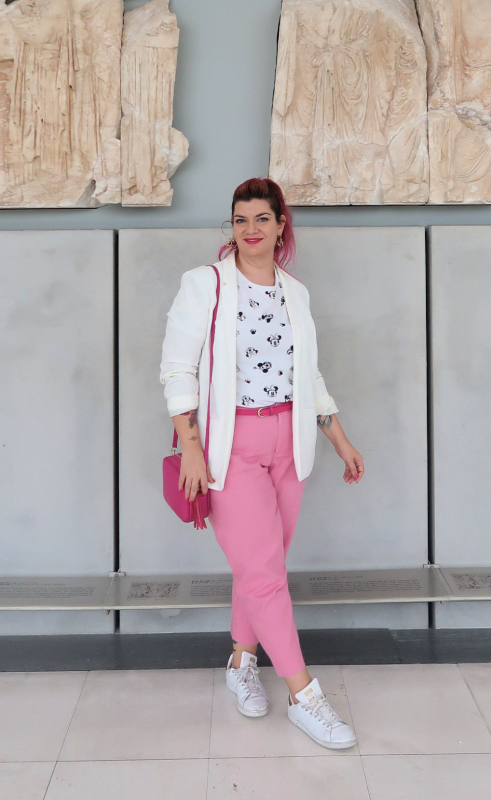 Outfit plus size bianco e rosa (9)