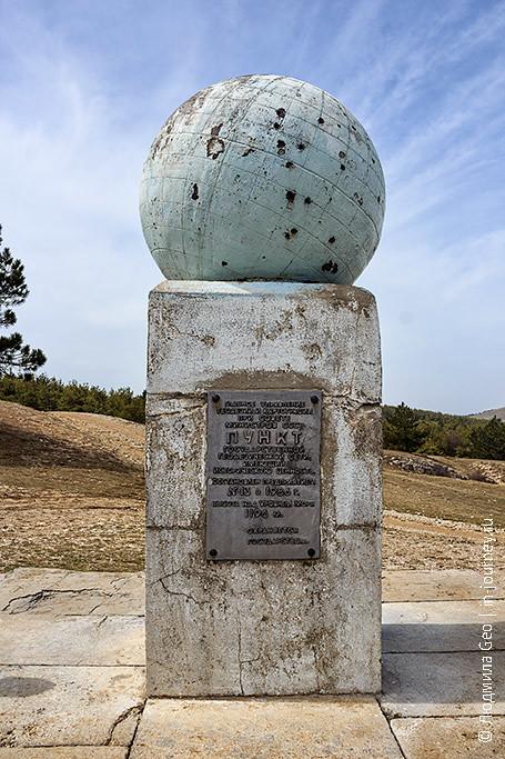 глобус на вершине Ай-Петри