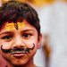 Hindu Child with Tilak Mark and Mustache
