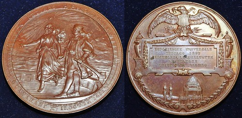 1892 Danish Colombian Exposition Medal