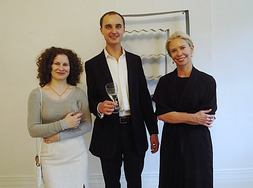 <p>Andrea, Oleg, Olivia at Oleg's 'Neo-regionalism - Place memory' opening night</p>