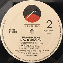 IMAGINATION:NEW DIMENTION(LABEL SIDE-B)