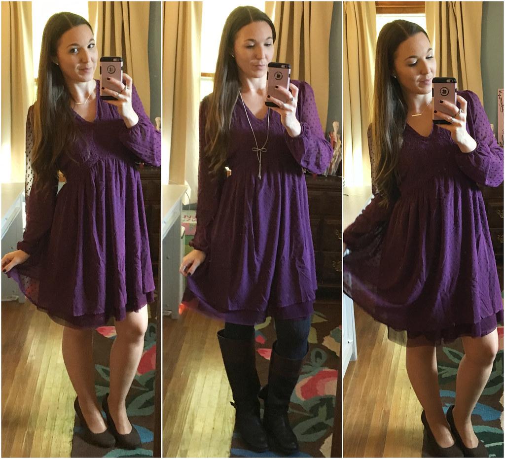 matilda jane purple swiss dot charlie dress