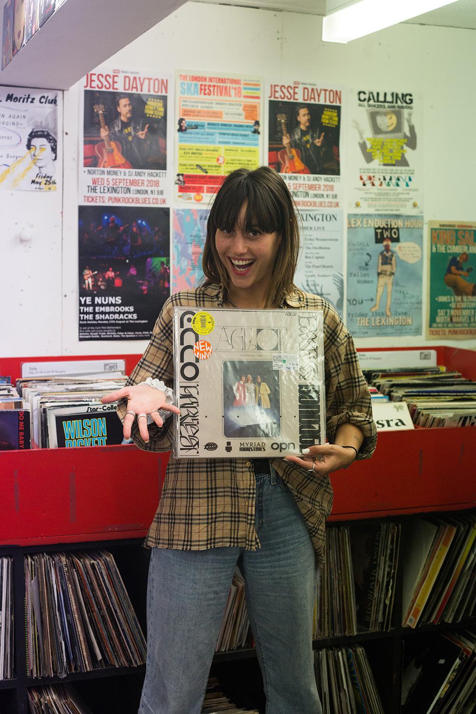 Record Shopping with Agar Agar at Flashback Records