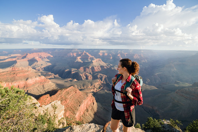 Hiking the Rim Trail at the Grand Canyon
