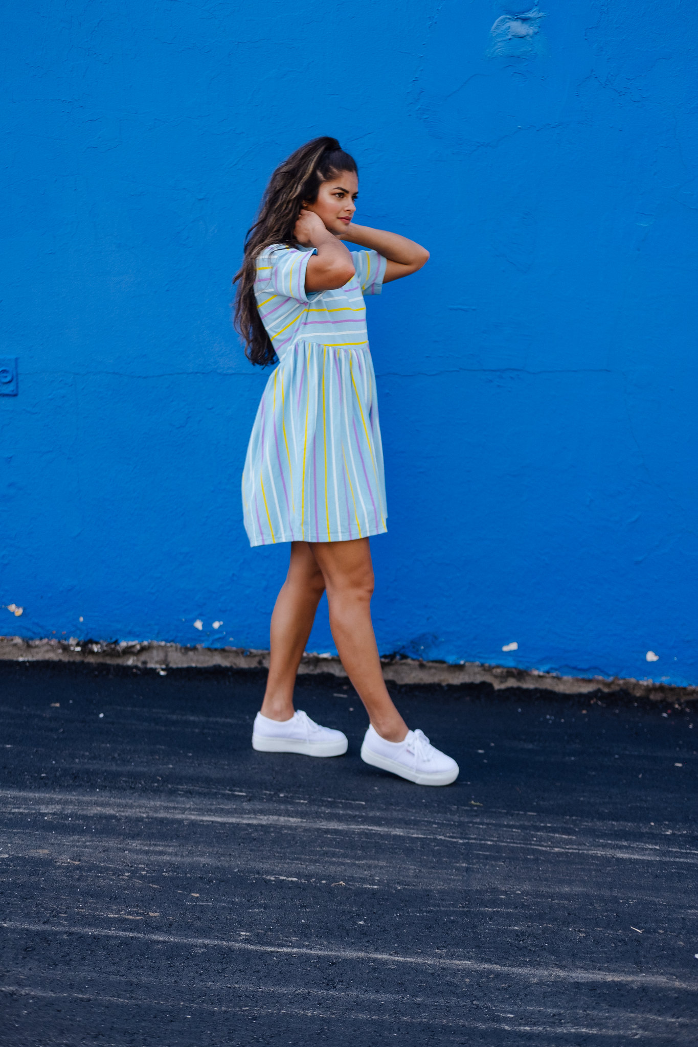 Fall 2018 outfit formula, Priya the Blog, Nashville fashion blog, Nashville fashion blogger, Nashville style blog, Nashville style blogger, platform Supergas, platform Superga trainers, smock dress for Fall, babydoll dress for Fall, babydoll dress with platform sneakers, how to wear platform sneakers, Fall outfit with babydoll dress, ASOS smock dress