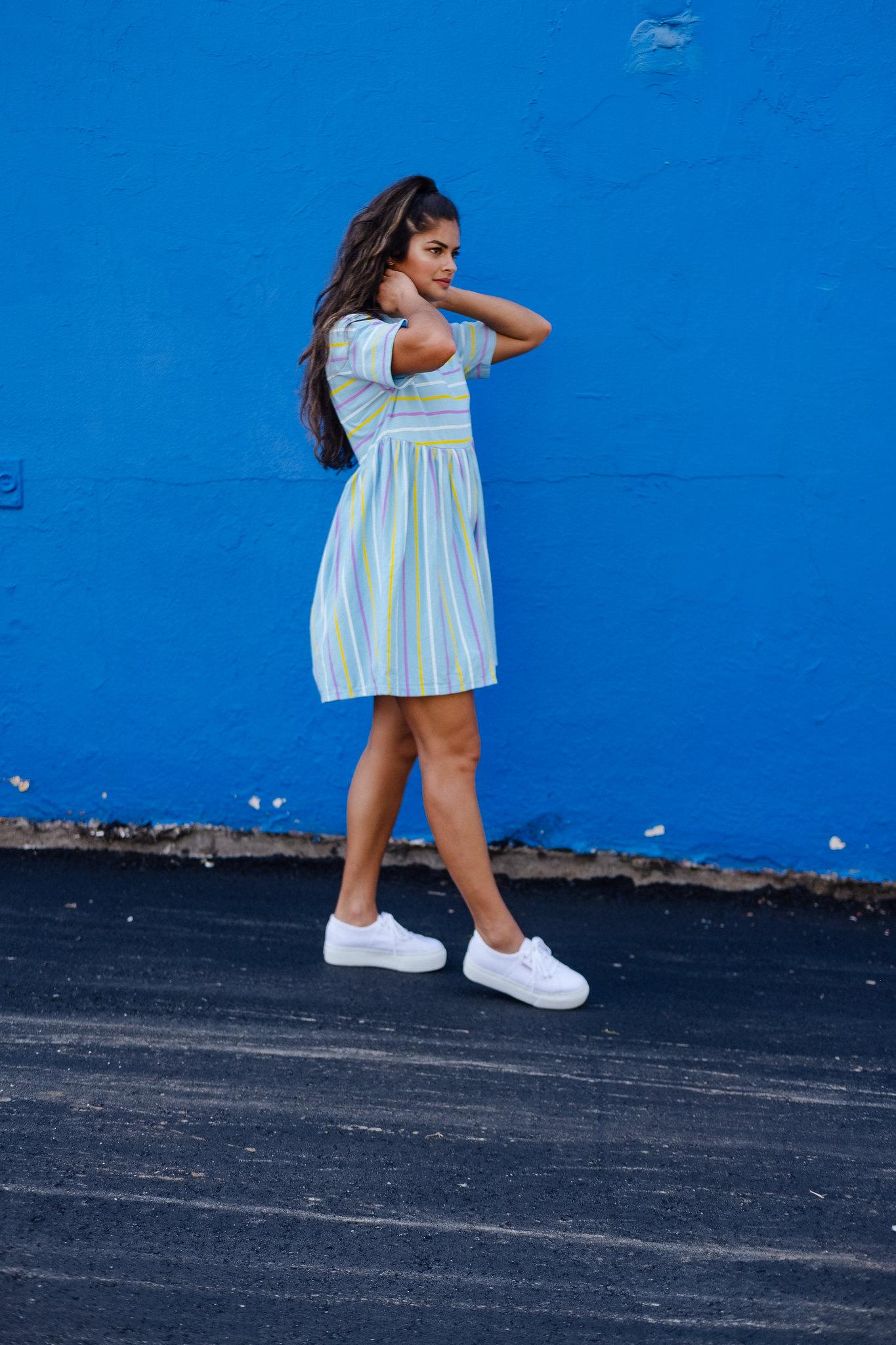 Fall 2018 outfit formula, Priya the Blog, Nashville fashion blog, Nashville fashion blogger, Nashville style blog, Nashville style blogger, platform Supergas, platform Superga trainers, smock dress for Fall, babydoll dress for Fall, babydoll dress with platform sneakers, how to wear platform sneakers, Fall outfit with babydoll dress, ASOS smock dress