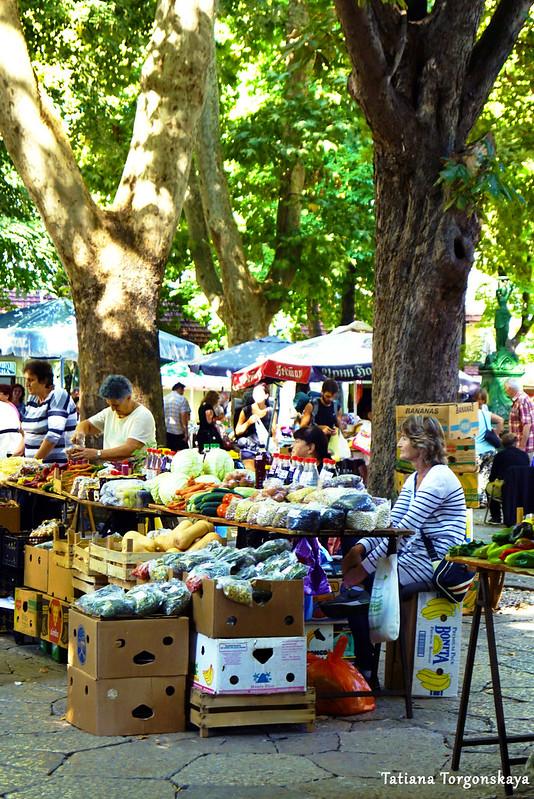 Продавцы на требинском рынке