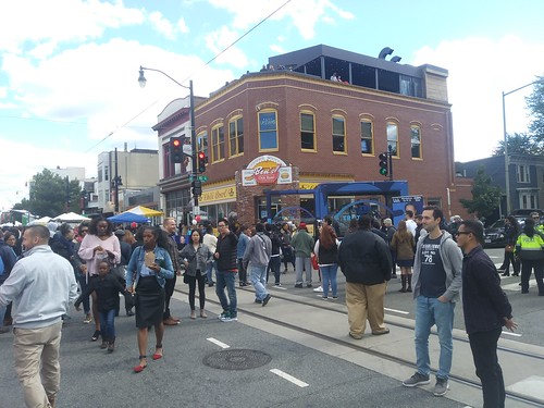 H Street Festival, Ben's Chili Bowl with roof top deck