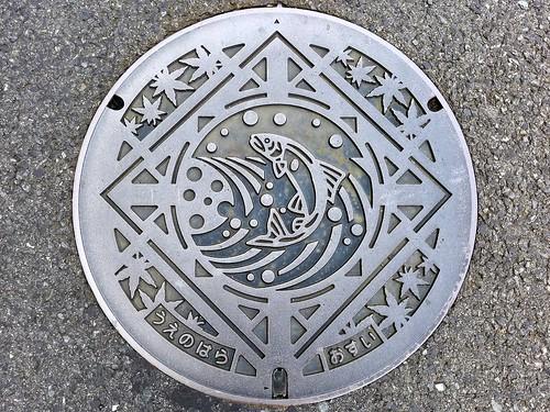 Uenohara Yamanashi, manhole cover (山梨県上野原市のマンホール)