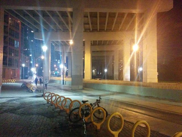 Under the Gardiner (2) #toronto #gardinerexpressway #night #fortyork #latergram