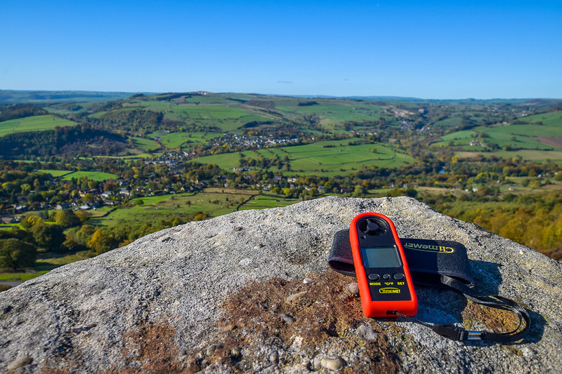Curbar Edge + Baslow Edge, Peak District - ClimeMET Wind Meter