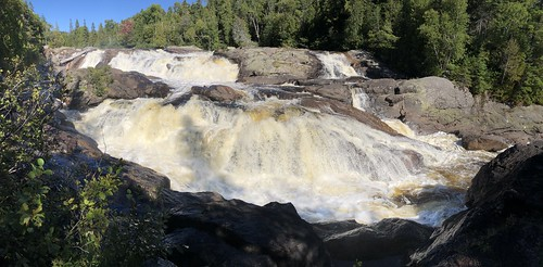 Lake Superior Park waterfall
