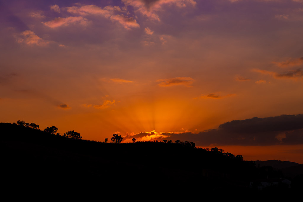 Sunset in the Northern Algarve Hills