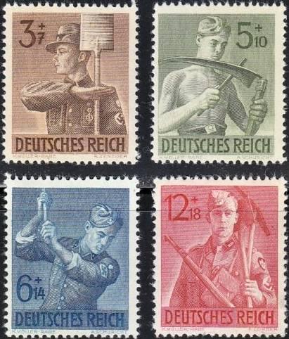 Známky Nemecká ríša 1943 Pracovné jednotky
