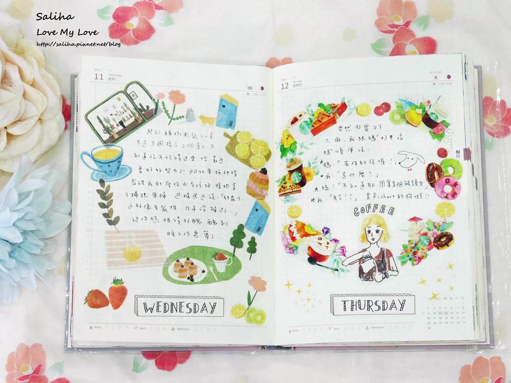 開花生活實驗室往世書手帳裝飾心得分享紙膠帶應用彩繪花環 (6)
