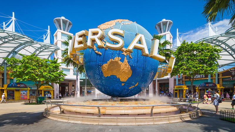 Universal Studio Singapura.