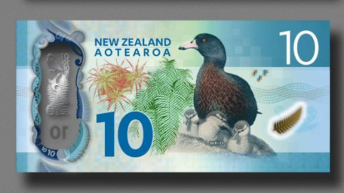 New Zealand $10 banknote front