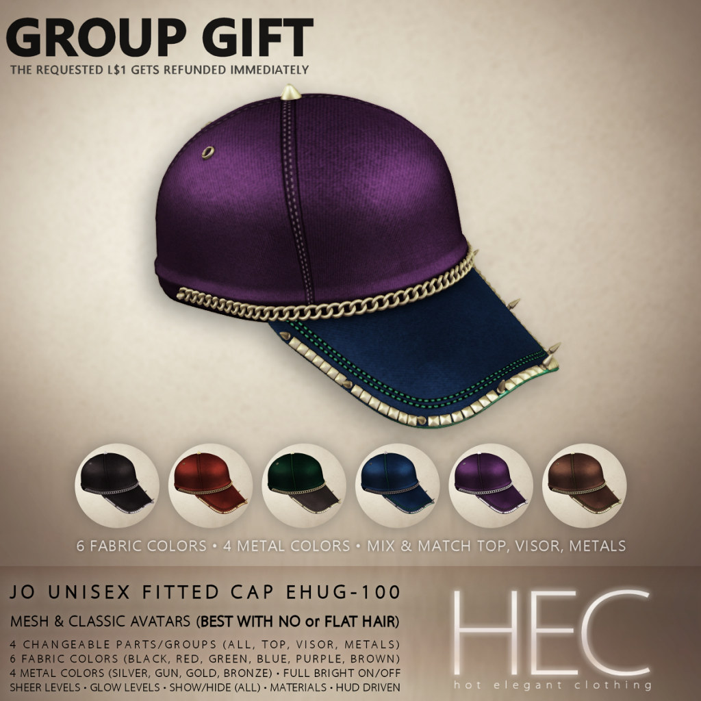 HEC (EVENT GIFT) • JO UNISEX FITTED CAP GIFT EHUG-100 - TeleportHub.com Live!