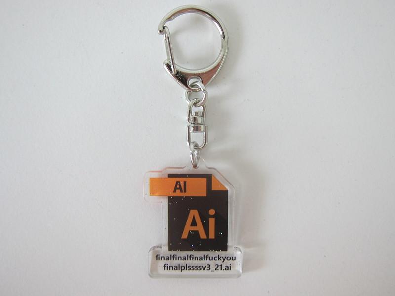 Illustrator (Ai) Keychain - Front