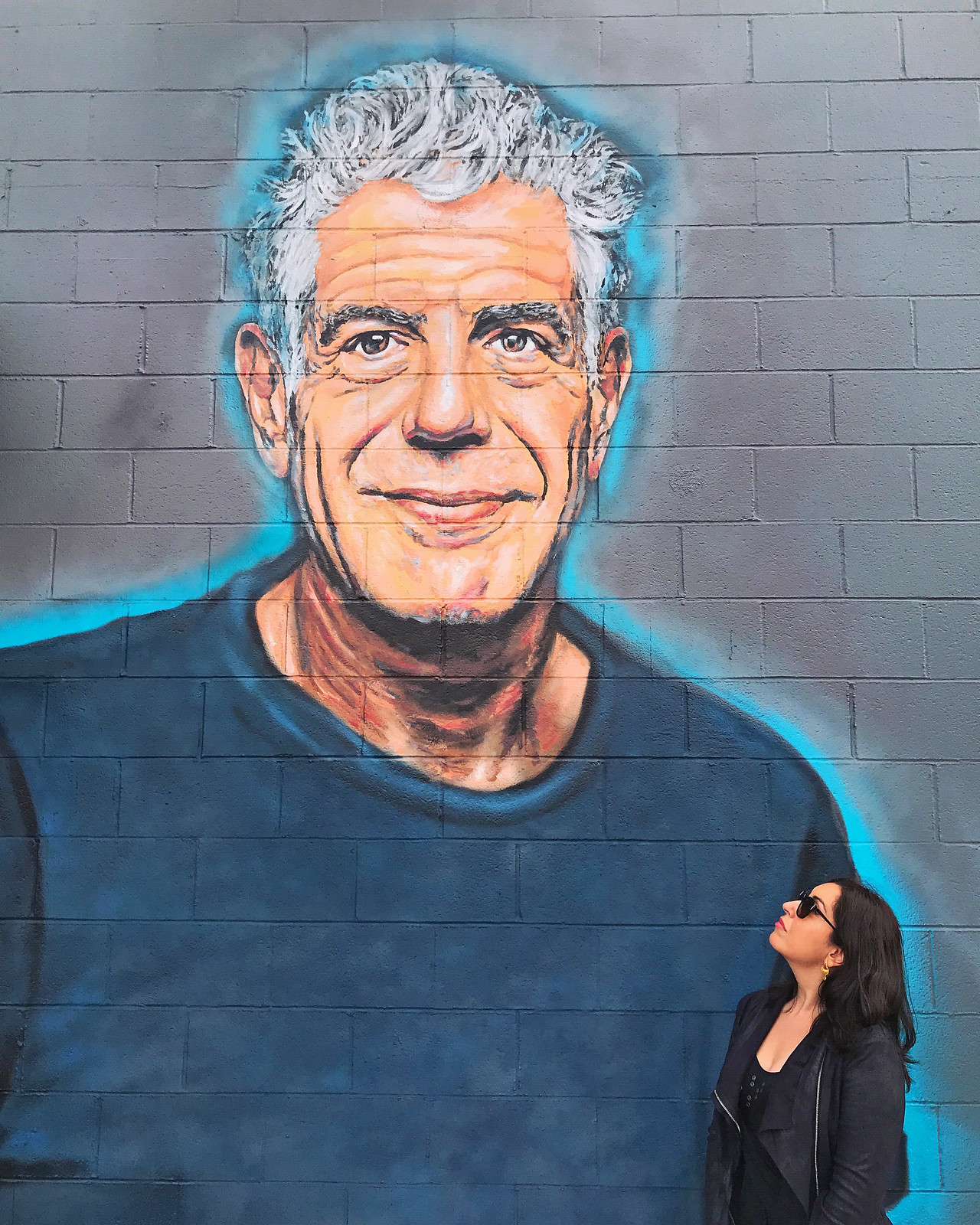 Anthony Bourdain Mural at Gramercy Santa Monica