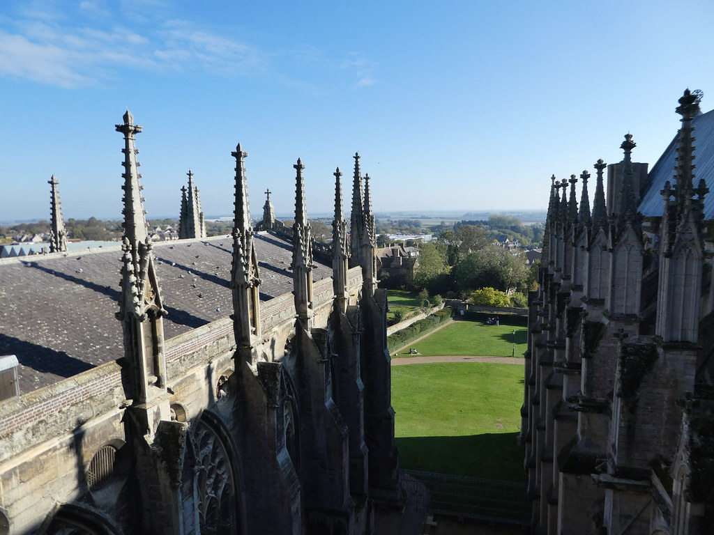 Views from the roof of the transept, Ely Cathedral