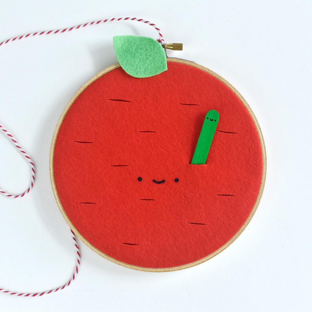 Apple Sewing Hoop