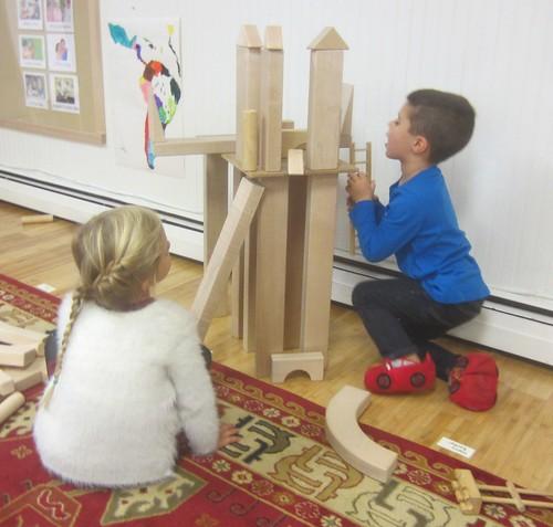 a tall castle