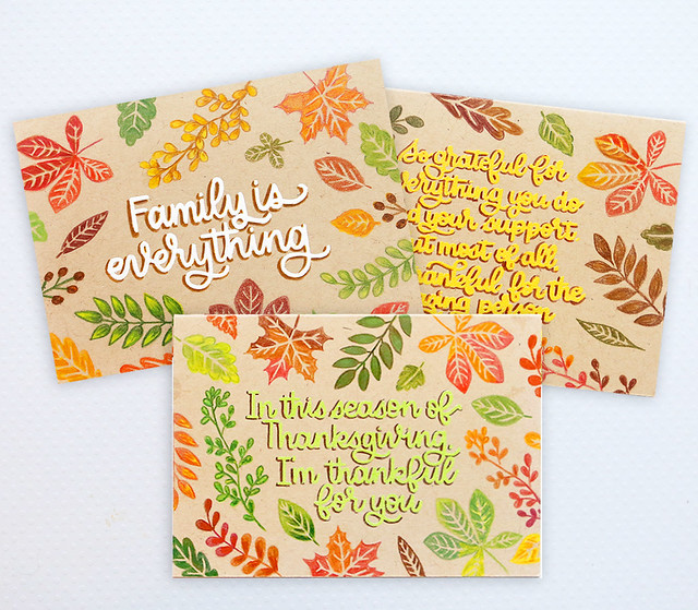 november card kit cards together