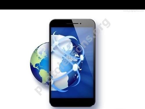 Смартфон с глобусом