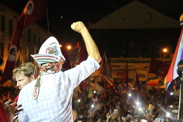 Haddad também enalteceu o trabalho de militância que a população voluntariamente tem feito nas ruas. - Créditos: Vinícius Sobreira/Brasil de Fato