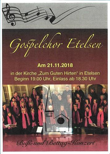 Gospelchor Etelsen Buß und Bettag 2018