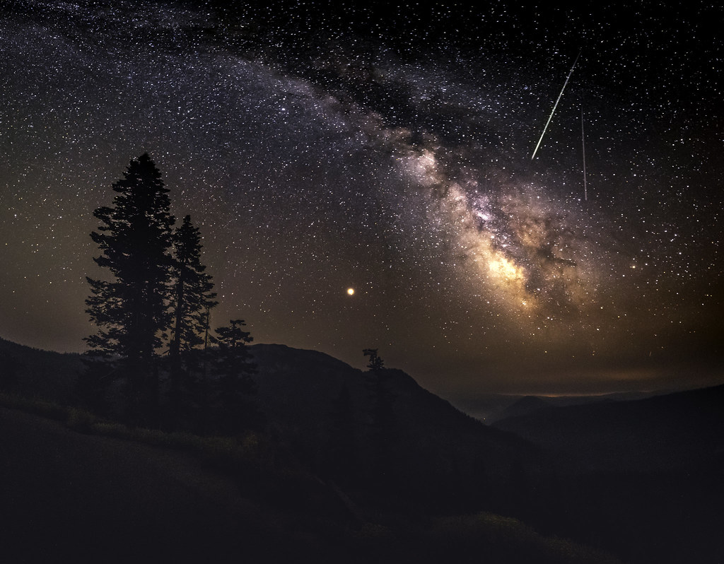Pressed Meteor shower over Lassen