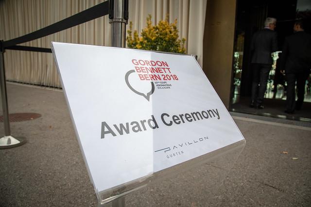 Gordon Bennett Bern 2018 - Award Ceremony