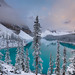 Absolutely beautiful first look at Moraine Lake by Theresa Rasmussen