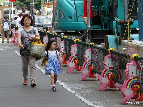 Hello Kitty on the Street