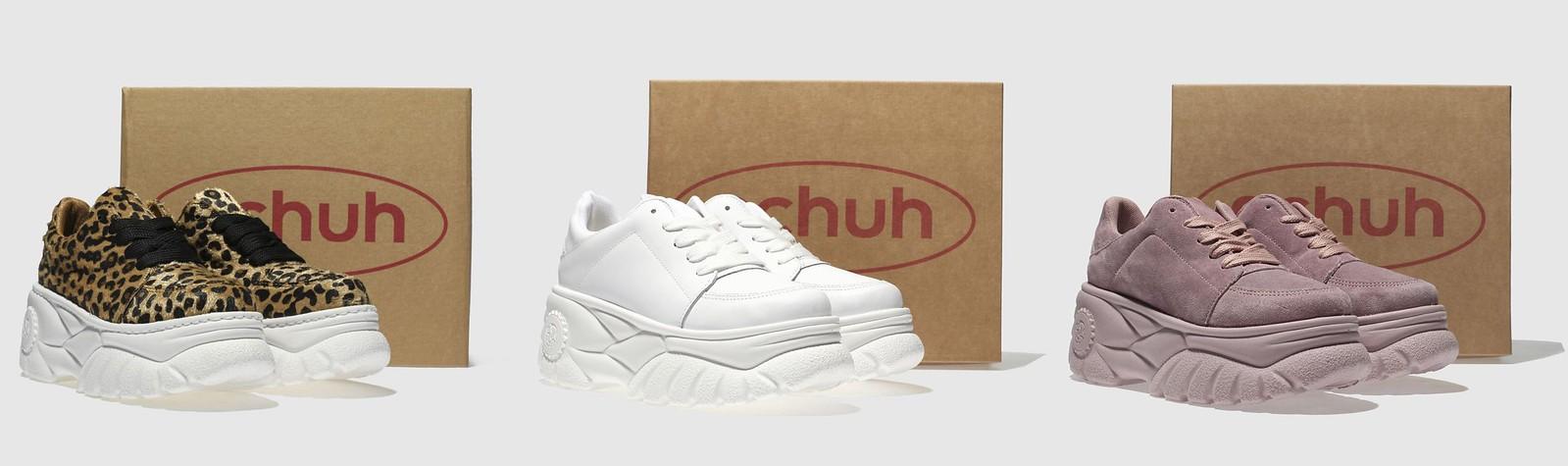 schuh platform trainers