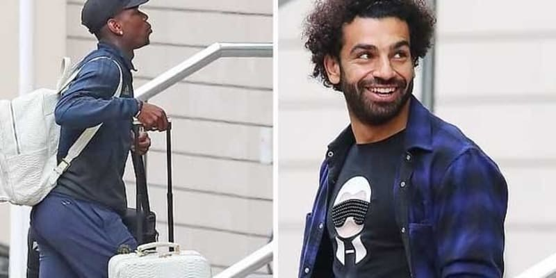 Salah Tertangkap Camera Sedang Keluar Dari Hotel Pemain Manchester United