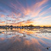 Keyhaven sunset by john wines
