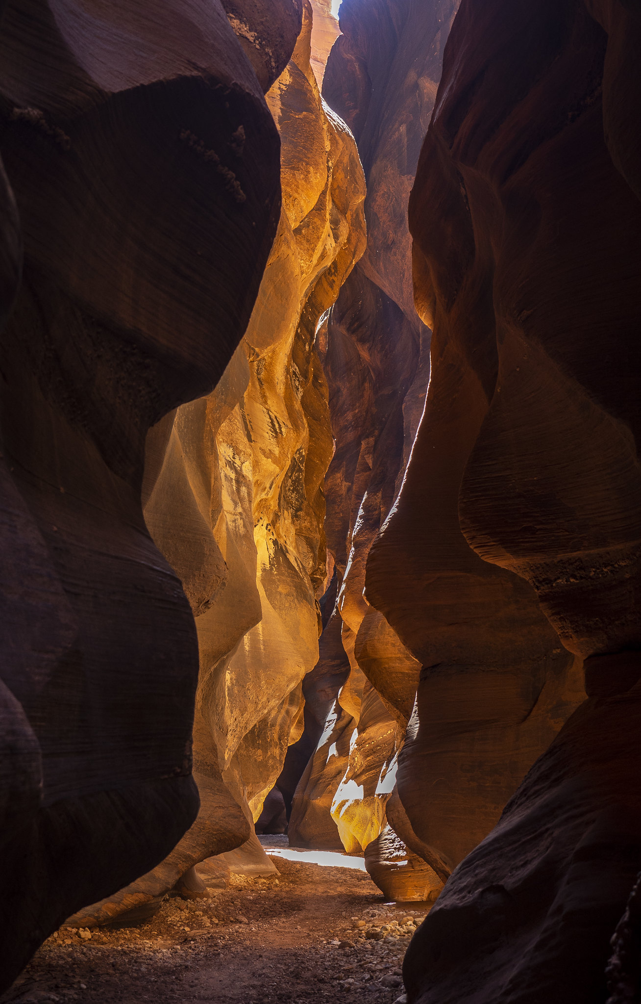 The fascinating light of Buckskin Gulch