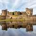 Caerphilly castle reflection 1