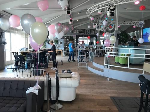 Tafeldecoratie 3ballonnen Gronddecoratie Beachclub8 Rockanje