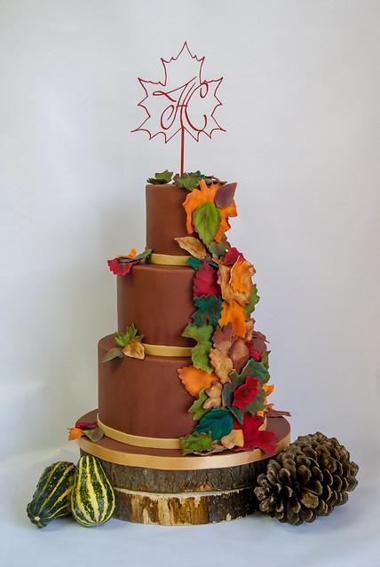 Tarta boda otoño